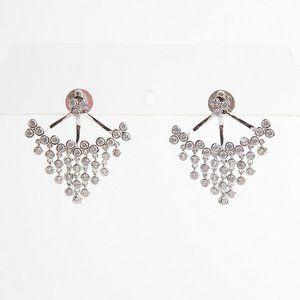 Henri Bendel Diamond Fan-shaped Tassel Earring